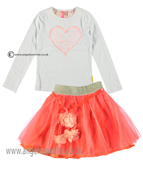 No No Girls Top & Skirt 15110107/80106 Coral