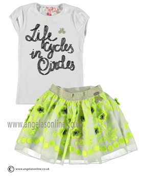 No No Girls White Top & Green Skirt 15110113/80101