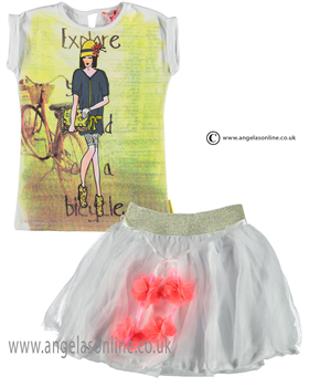 No No Girls Top & Skirt 15110106/80106 white