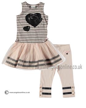 cfdc27da2 S&D Le Chic Girls Striped Dress & Cropped Leggings 24115713/5615