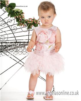 Kate Mack Girls Dress 154ROB Pink