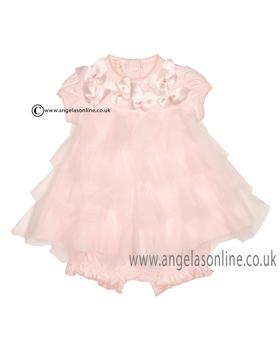 Kate Mack Baby Dress & Bloomers 342BW1N Pink