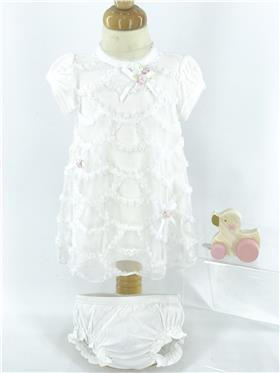 Kate Mack Baby Dress & Bloomers 351RR1N Ivory