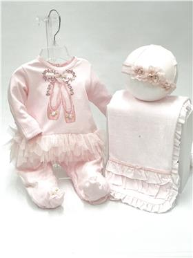 Kate Mack baby girls babygrow 351RR1N Pink
