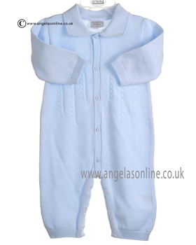 Pex Baby Boys Pale Blue Oliver Romper B5910
