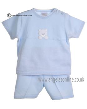 Pex Baby Boys Blue White Rupert Top & Short B5884