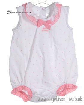 Tutto Piccolo Baby Girls Pink Romper 7384