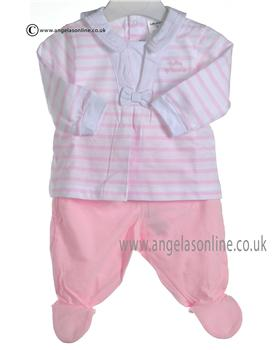 Tutto Piccolo Baby Girls Pale Pink Top & Leg/Feet 7482