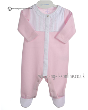 Laranjinha Baby Girl Pink and White Romper 5113
