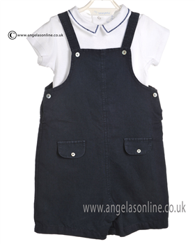Laranjinha Baby Boys Navy and White Body & Bib Short 5214/5301