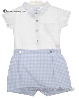 Laranjinha Baby Boys Blue and White Body & Shorts 5209/5205