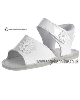 Pretty Originals Baby Girls White Sandal UE01320