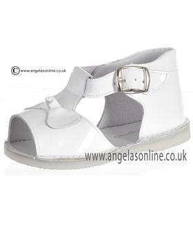 Pretty Originals Baby Girls White Sandal UE01245