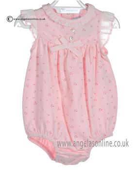 Laranjinha Baby Girls Pink Romper 5075