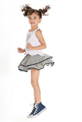 Kate Mack Girls Navy and White Top & Skirt 817/818DCC
