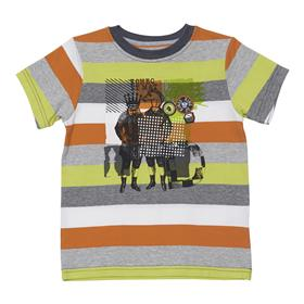 Deux par Deux Boys Orange and Grey T Shirt S74