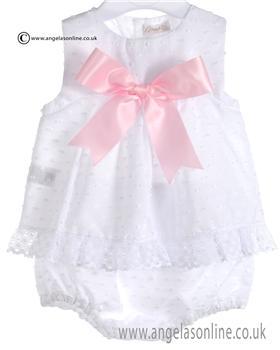 Mebi Baby Girls White and Pink Angel & Panty 1383VB/CJTO