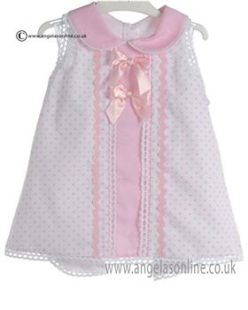 Pretty Original Baby Girls Pink and White Dress & Knicks MB10192E