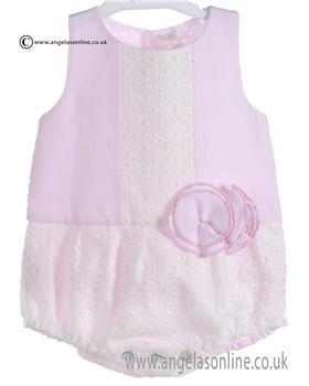 Mebi Baby Girls Pale Pink Romper 1385/045