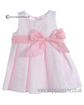 Mebi Baby Girls Pale Pink Dress 1385/057