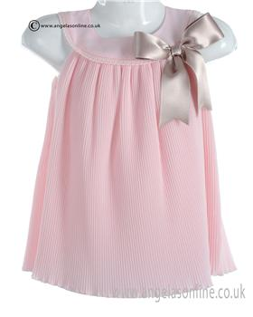 Mebi Baby Girls Pink and Beige Dress 1389/057