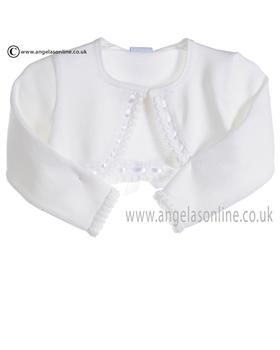 Granlei Baby Girls White Bolero Cardigan 278