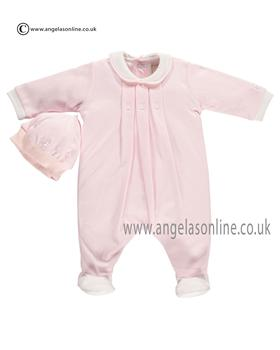 Emile et Rose Baby Girls All in One Sleepsuit & Hat Fritzi 1639pp