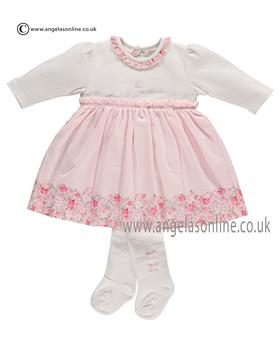 Emile et Rose Baby Girls Dress & Tights Flora 6273pp