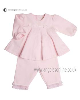 Emile et Rose Baby Girls Top & Trouser Flamingo 6369pp