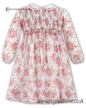 Sarah Louise Pink Long Sleeve Dress 10083