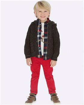 Mayoral Boys Red Five Pocket Twill Trousers 41