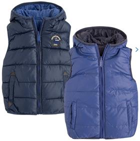 Mayoral Boys  Reversible Padded Gilet Body Warmer 4423 Blue