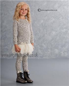 Kate Mack Grey/Ivory Leopard Print Dress & Leggings 101WS/103