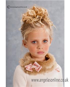 Kate Mack Girls Faux Fur Collar 161ANC