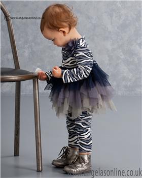 Kate Mack Girls Tunic & Legging 516WS Navy/Grey