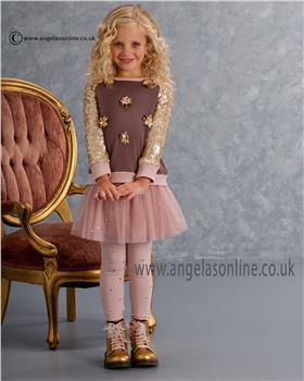 Kate Mack Girls Top Skirt & Legging 568/571/576HGC Cocoa