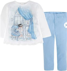 Mayoral Baby Girls Legging Set 4709 Blue