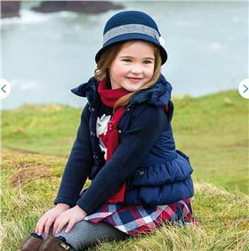 Mayoral Girls Gilet With Fur Inside In Navy 4425 Navy