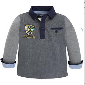 Mayoral Boys Long Sleeve Polo 4107 Grey