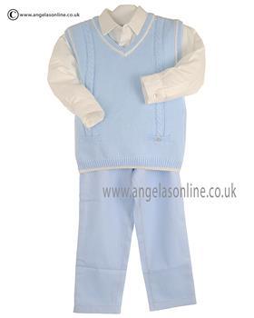 Tutto Piccolo Boys Shirt Tanktop & Trouser 8022/8821/8127 Blue