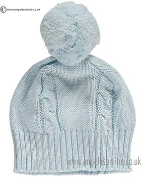 Emile et Rose Baby Bobble Hat Fuzzy 4658 Blue