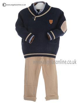 Tutto Piccolo Boys Shirt Jumper & Trouser 8040/8840/8110 NY/CAM