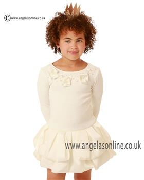 Kate Mack Girls Dress 215 CF Cream