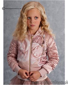 Kate Mack Girls Rose Print Jacket 573HGC
