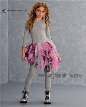 Kate Mack Girls Dress & Legging 541/538MG Grey