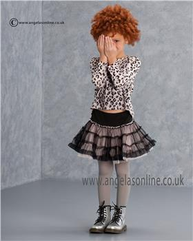 Kate Mack Girls Top & Skirt 628CC/629CC BLACK/PINK