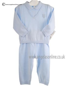 Pex Baby Boys Knitted Jumper & Trouser Henry 6068 Blue