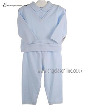 Pex Baby Boys Jumper & Trouser Suit Charles 6069 Blue/Blue