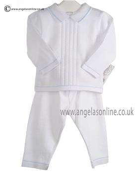 Pex Baby Boys Jumper & Trouser Leon Suit 6041 White