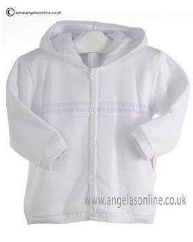 Pex Baby Boys Knitted Jacket Simon 6072 White